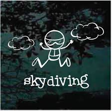 Skydiving Hang Gliding Car Decals Window Stickers Decal Junky