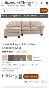 foresthill 2 pc microfiber sectional