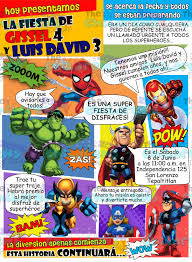 The Childrens Zone Digi Designs Invitaciones De Superheroes