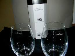 dimple stemless wine glasses