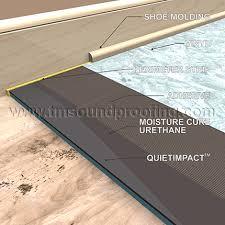 put padding under vinyl flooring