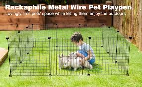 Portable Plastic Pet Playpen Animal Fence Cage Kennel Crate For Small Animals Rabbit With 12 Panels Guinea Pig Outdoor Indoor Ferret Puppy Bunny Cat Rackaphile Pet Playpen For Small Dogs Pet