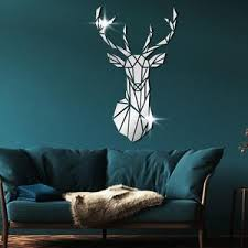 Deer Mirror Effect Wall Art Hunter S Corner Collection