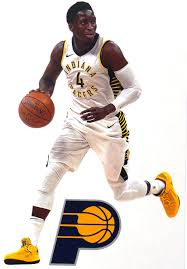 Amazon Com Victor Oladipo Mini Fathead Graphic Indiana Pacers Logo Official Nba Vinyl Wall Graphics This Graphic Is 7 Inches Tall Arts Crafts Sewing