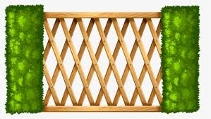 Wooden Fence With Plants Png Clipart Wood Fence Clipart Png Transparent Png Kindpng