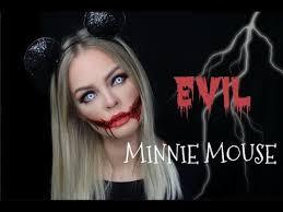 evil minnie mouse halloween makeup