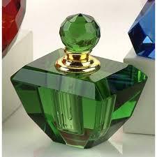 jade green crystal perfume bottle