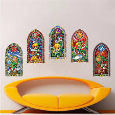 Zelda Windmaker Stained Glass Windows Nintendo Wall Decal Video Game D American Wall Designs