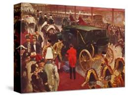 Queen Alexandra Arriving At Paddington Station For The Funeral Of Queen Victoria 1901 Giclee Print Unknown Allposters Com