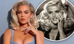 Khloe Kardashian channels Anna Nicole Smith at the height of her '90s  glamour | Daily Mail Online