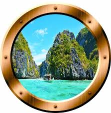 Vwaq Nature Porthole 3d Ocean Wall Sticker Peel And Stick Beach Style Wall Decals By Vwaq Vinyl Wall Art Quotes And Prints