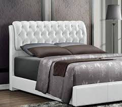 barnes white faux leather king size