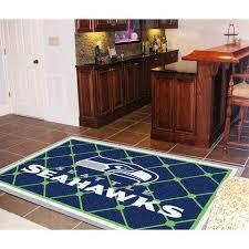 seattle seahawks nfl floor rug 5x8
