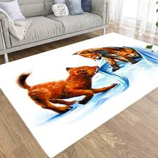 Amazon Com Capsceoll Fox Kids 5x7 Area Rugs Soft And Comfy Carpet Friendly To Kids Pets For Living Room Bedroom Kitchen Dining