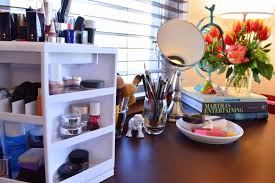 makeup vanity organized with gordmans