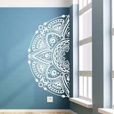 Sweet Home Decor Half Mandala Flower Vinyl Wall Decal Removable Mandala Sticker Headboard Half Mandala Wall Window Mural Az055 Wall Stickers Aliexpress