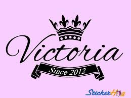 Queen Crown Name Monogram Wall Decal Girls Kids Sticker Home Bedroom Wall Decor