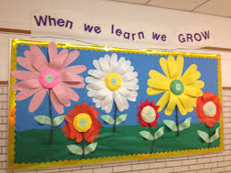 spring bulletin board for with