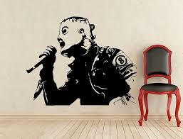 Corey Taylor Slipknot Wall Decal Music Vinyl Sticker Home Art Wall Decor Mural Removable Waterproof Decal 218s Amazon Com