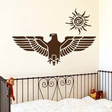 Shop Eagle Interior Nursery Room Vinyl Sticker Sun Decal Interior Design Mural Nursery Room Sticker Decal 44 X 60 Black Overstock 15427892