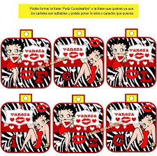 Kit Imprimible Recuerdos Betty Boop 49 00 En Mercado Libre