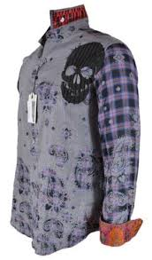 New Robert Graham BLUES HAVEN Paisley Skull Embroidered Limited Editio –  Annie's Unique Accessories