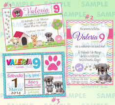 Invitaciones De Perritos Perros Invitaciones Mascotas Fiesta