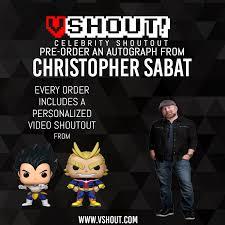 Christopher Sabat Official vShout! Autograph Pre-Order