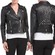 nwt star studded vegan leather jacket