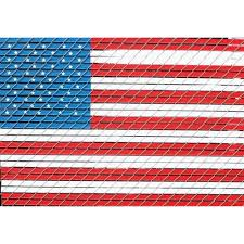 4 Ft X 6 Ft American Flag Chain Link Fence Slat Kit Fence Slats Chain Link Fence Blue Flag