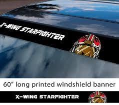 Buy 60 Rebel Alliance Star Wars X Wing Fighter Helmet Darth Galactic Empire Sun Strip Printed Car Vinyl Sticker Decal
