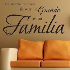 Inspirational Quote Wall Art Vinyl Decals Spanish Family Quote In Clas Nordicwallart Com