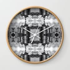 orleans cemetery mirror wall clock