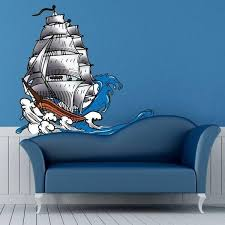 Shop Ship Sea Waves Full Color Wall Decal Sticker K 511 Frst Size 20 X20 Overstock 20955748