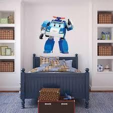 Robocar Poli Poli Wall Sticker Decal Bedroom Decor Art Mural Kids Tv Wc161
