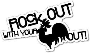 Amazon Com Rock Out With Your Cock Out Sticker Decal Funny Vinyl Car Bumper Automotive