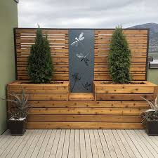 Dragonfly Dandelion Metal Privacy Screen Decorative Panel Outdoor Garden Fence Art In 2020 Backyard Fence Decor Privacy Fence Designs Garden Fence Art