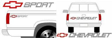 Chevy Sport Truck Decal Kit Tailgate Bedside Decals Performance Decals