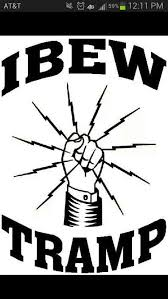 Ibew Tramp Power Lineman Funny Signs Workers Union
