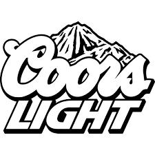 Coors Light Logo Decal Sticker Coors Light Logo Decal Thriftysigns