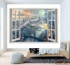 Disney Peter Pan London 3d Window Wall Sticker Poster Vinyl Bedroom Decal F63 Ebay
