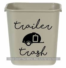 Camper Decals Trailer Trash Sticker Vintage Rv Art For Garbage Can