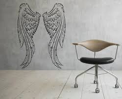 Angel Wings Wall Decal Flight Vinyl Decal Sticker Murals Etsy Angel Wings Wall Angel Wings Wall Art Wing Wall