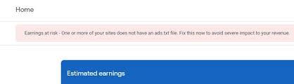 adsense ads txt warning wont go away