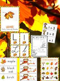 pre leaf theme lesson plan