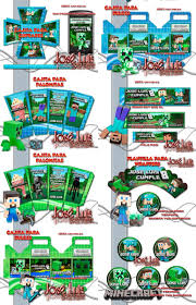 Super Mega Kit Imprimible 100 Editable Minecraft Jose Luis