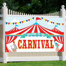Oriental Cherry Carnival Party Supplies Circus Decorations Carnival Theme Large Backdrop Banner Sign For Kids Birthday School Outdoor Home Wall Decor Amazon In Garden Outdoors