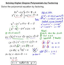 degree polynomial equations