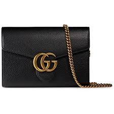 interlocking gg marmont leather wallet