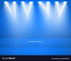 empty blue studio for royalty free vector